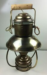 Vintage Brass Electric Hanging Lantern Lampw white bulb and no plug 10quot; x 16quot; $69.50