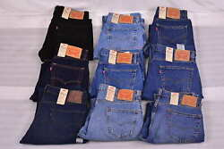 Men#x27;s Levi#x27;s 505 Regular Fit Straight Leg Jeans Choose Color amp; Size $31.99