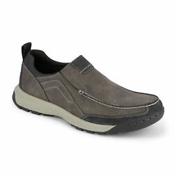 Dockers Mens Albright Rugged Casual Slip on Rubber Sole Outdoor Loafer CHARCOAL $16.95