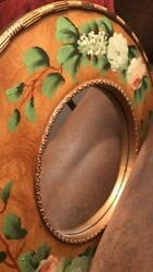 Hanging Antique Wood Painted Mirror $19.50