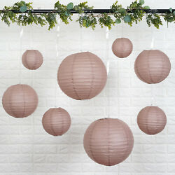 8 DUSTY ROSE Assorted Sizes Hanging Paper Lanterns Wedding Events Decorations $9.03
