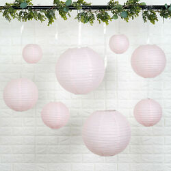 8 BLUSH Assorted Sizes Hanging Paper Lanterns Party Wedding Events Decorations $8.58