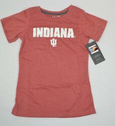 NCAA Indiana Hoosiers Girls Champion Poly T Shirt Red Heather Small 6 6x NEW $7.20