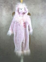 Pink Poodle Costume 12 18 mos Zippered Hood One Piece $19.99