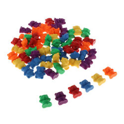 60pcs Kids Plastic Bear Counters Education Mathematics Counting amp; Sorting Toys $12.68