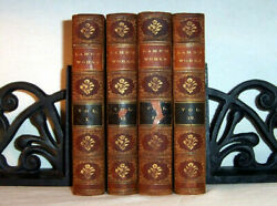 1860 Works Of CHARLES LAMB Antique Leather Bindings Complete Set Poems Essays $122.85