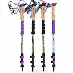 Trekking Poles Carbon Fiber Cross Mountain Climbing Hiking Walking Cane Sticks $43.71