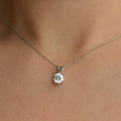 Round Cut Women's Enhanced Diamond Pendant 18KT White Gold 2.50 CT J-KVS2