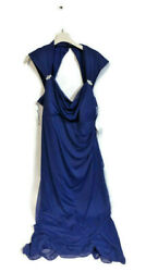 NEW WOMENS ASHRO BLUE BROOCH BALL EVENING GOWN COCKTAIL DRESS PLUS SIZE 22W