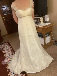 Esse Ivory Silk Wedding Dress Size 8