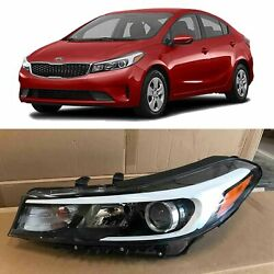 Headlight Replacement for 2017 2018 Kia Forte Halogen wo LED Left Driver