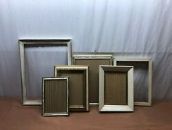 Lot of 6 Vintage Frames Antique White amp; Gold Tone Shabby Chic Wood Plastic Metal $49.95