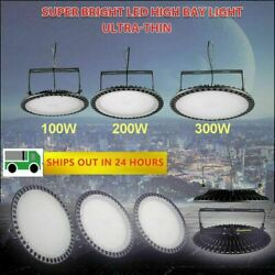 50W 500W LED UFO High Bay Light Warehouse Fixture Factory Commercial Lighting