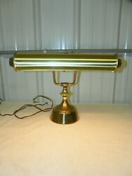 Vintage Antique Brass Organ Piano Bankers Desk Articulating Adjustable Arms Lamp