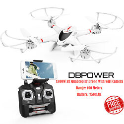 DBPower X400W FPV RC Quadcopter Drone With WiFi Camera Live Video One Key TS04 $59.95