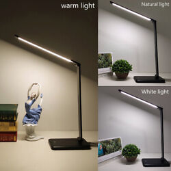 LED Desk Lamp 5 Color Modes Touch USB Phone Chargeable Reading Table Light CHY