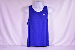 Men#x27;s Under Armour Heatgear Tech Tank Top 2.0 Royal Blue $15.60