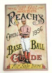 Vintage Replica Reachs Official 1896 Baseball Guide Metal Advertising Sign  $19.99