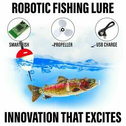 Electric Live bait Robotic Fishing Lure Animated Swimming Wobbler Bass Bait $24.50