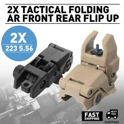 Premium Pair Flip-up Tactical Sight Folding Sights Front and Rear Set $10.99