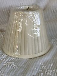 "Vintage Style Pleated Ivory Lamp Shade Clip On 3"" Top 5""Tall 5"" Bottom $12.99"