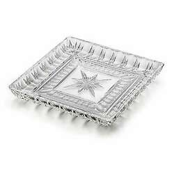 Waterford Crystal O#x27;Connell 10quot; Star Cut Square Tray $69.99