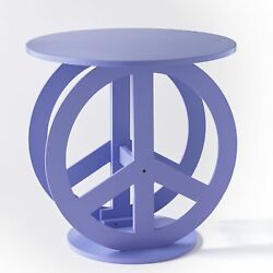 Novelty Peace Sign Shaped Accent Table for Kids and Teenagers Bedroom $39.98