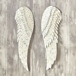Heavenly Angel Metal Wings Religious Hanging Wall Decor 2 Pieces $21.98