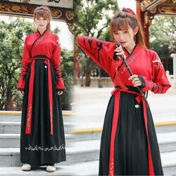 Womens Mens Unisex Chinese Traditional Oriental Style Hanfu Dress Robes Outfit $29.95