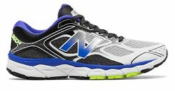 New Balance Men's 860v6 Shoes Blue with Black & Grey $45.12