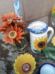 Beautiful fun bright Sunflower kitchen decor in great pre owned condition $53.40