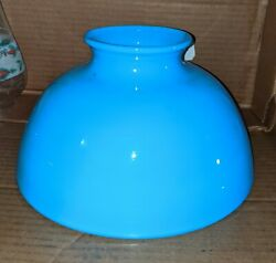 ROBIN#x27;S EGG BLUE ANTIQUE STUDENT LAMP SHADE $149.95