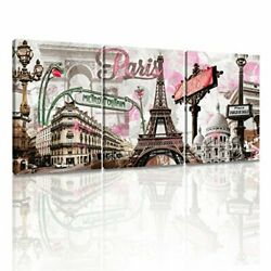 Paris Eiffel Tower Decor for Bedroom for Girls Pink Paris Theme Room Decor Wall $49.99