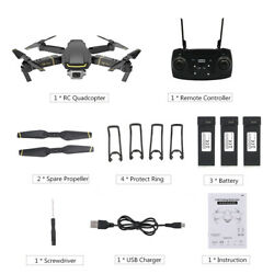 GLOBAL DRONE GW89 RC Drone 1080P Foldable RC Quadcopter Toy With 3 Battery F5A1 $60.55