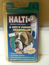 Halti Large Breed Dog Training Collar Size 5  Black Stops Pulling NEW Old Stock $17.99