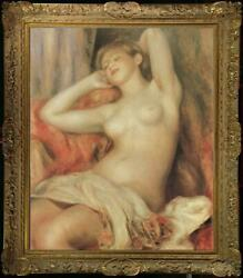 Old Master Art Antique Oil Painting Portrait nude girl on canvas 24quot;x36quot; $399.00