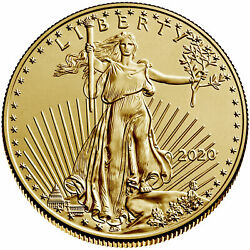 2020 $10 American Gold Eagle 14 oz Brilliant Uncirculated $516.70