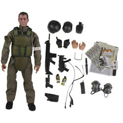 1 6 Scale Army Combat Desert Medic Soldier Model Figurine Playset Accessory $20.93