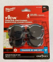 Milwaukee 48-21-2004 One-Key Tick Tool and Equipment Tracker (4 Pack)