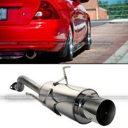 For 01 05 Honda Civic 2DR 4DR Stainless Steel Bolt On Axle Back Exhaust Muffler $79.99