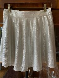 Xhilaration From Target Silver Skirt Size L 10 12 $4.00