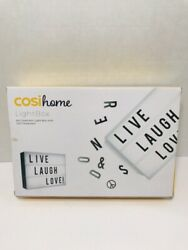 Cosi Home™ A4 Cinematic Light Box with 100 Letters Emojis Symbols NEW In Box $19.99