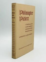 Lawrence Clark Powell  PHILOSOPHER PICKETT First Edition 1942