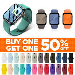 For Apple Watch Silicone Band Strap Series 1 2 3 4 5 6 SE Sports 38 40 42 44mm $3.99