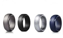 4 Pack Silicone Wedding Engagement Ring Men Women Rubber Band Gym Sports US $6.99