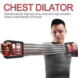 CHEST EXPANDER ADJUSTABLE SPRING EXERCISE Workout w Removable Springs Home Gym $18.95