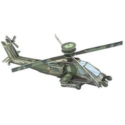 Military Helicopter Kids Adults Smartkids 3D Puzzle Game Craft 17quot;X10quot;x6quot; DIY $7.95