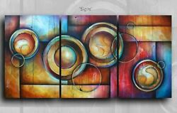 Abstract Art Original Painting Modern Contemporary Decor Mix Lang cert. unique $895.00