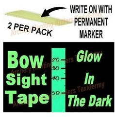 GLOW IN THE DARK Bow Sight TAPE Archery 2 PCS See Marking In Dark by CIR CUT New $2.99