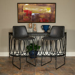 30 inch LeatherSoft Bar Height Barstools Set of 2 $140.99